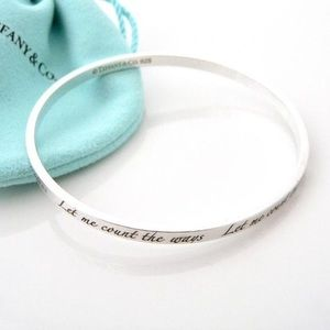 Authentic Tiffany & co let me count bangle